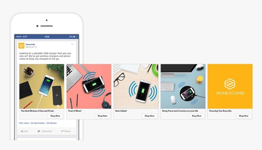 Facbook Ads carousel