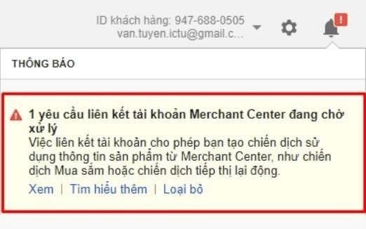 Liên kết tài khoản Google Merchant Center 3